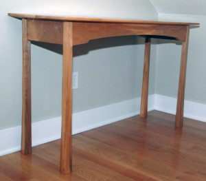 One of two completed tables prior to installation.