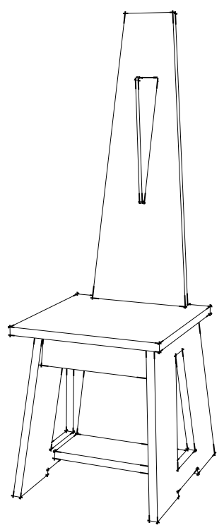 Sketch for Limbert's No. 81  Hall Chair