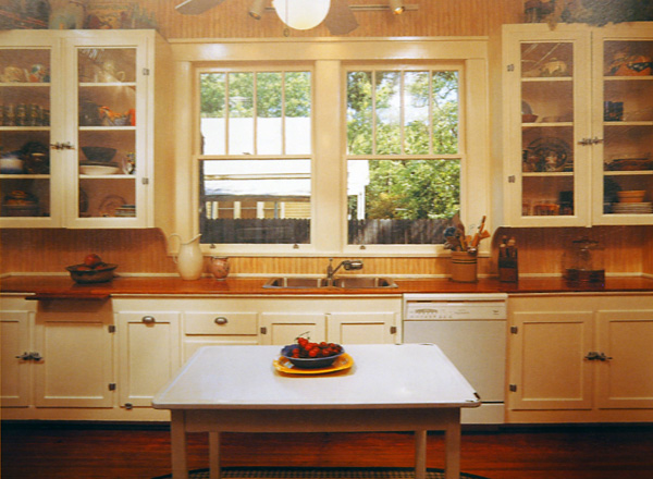 One of the kitchens featured in Bungalow Kitchens.