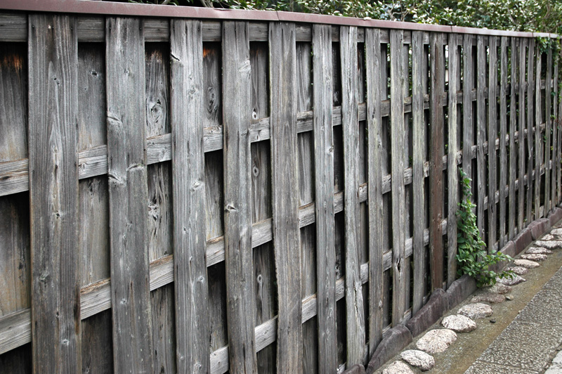 A shoadow box fence in Kamakura