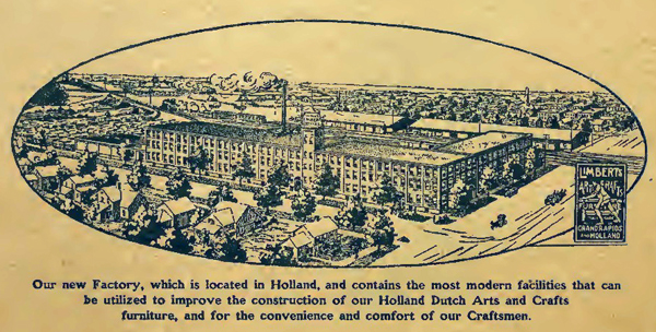 A drawing of the Holland factory from one of the company's booklets