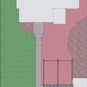 The final plan included a brick patio, expanded bed, and new covered porch.
