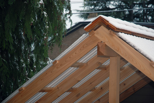 Timber Frame Porch Ridge Cap 1910 Craftsman