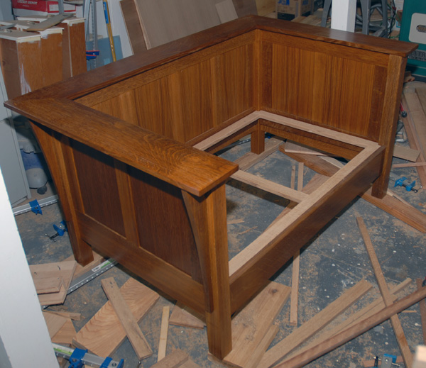 A modified Stickley No. 220 almost ready for upholstery.