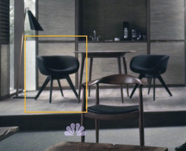 Mid-Century Modern furniture on the set of Hannibal