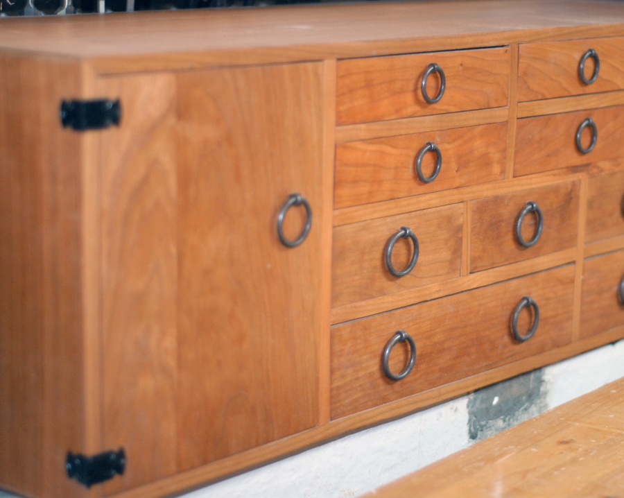 Detail of a tansu-inspired tool chest.