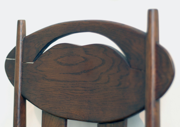 Detail of Mackintosh side chair