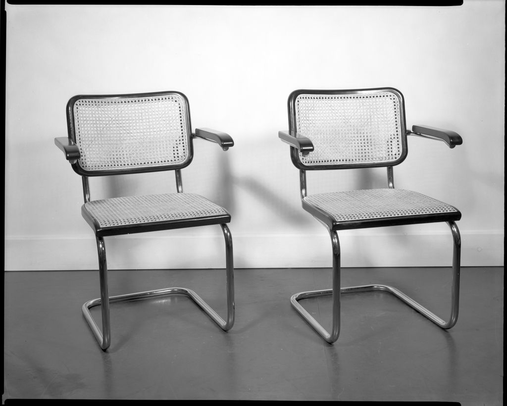 The Harvard Bauhaus collection now online includes this Breuer armchair built by Thonet. © President and Fellows of Harvard College